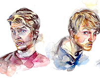 Watercolor Portraits sketching