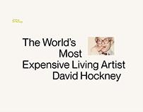 David Hockney Promo Page