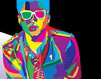 Bruno Mars Wpap Portrait