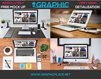 Workspace - Free PSD Mockup