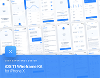 UIXO iOS 11 Wireframe Kit