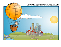 De manager in de luchtballon