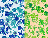 Water color Florals | Surface Pattern