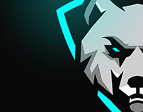 Winter Wolf Mascot Logo Design