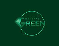 Natural Green Company Logo Design