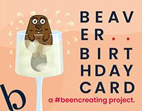 Beaver Birthday Card - Design
