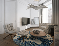 Modern apartment in  tenement house.