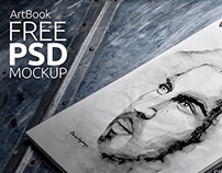 Free Mock-Up Sketch book Photorealistic 02