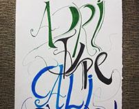Project Calligraphy & Typography #handmade