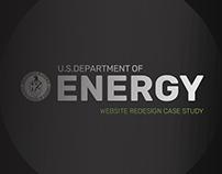 U.S. Department of Energy Website Redesign