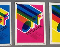 OFF REGISTER - Print Exhibition Poster Design