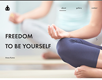 Website for a yoga instructor