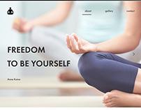 Website for a yoga instructor