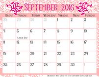September 2016 Calendar Freebie!