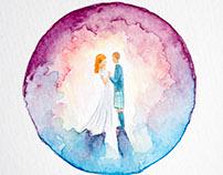 mini wedding paintings