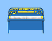 Illustration - City of Robbinsdale Painted Piano