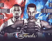 NBA Finals Stats Creative