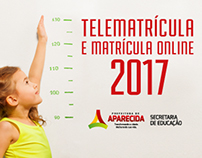 Matrículas 2017 - Prefeitura de Aparecida