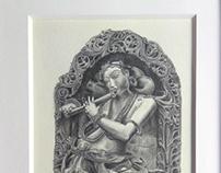 Pencil Drawing LORD SREE KRISHNA - 2016
