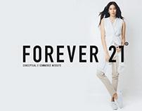 Forever 21 an E-commerce Website Design.