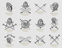 Set of Ancient and Medieval logos