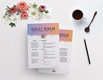 Colour CV - Resume Template, Cover letter