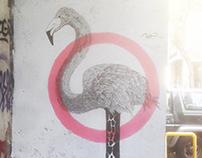 Flamingoraffe. Athens 2016
