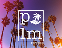 palm paradise. (Plm) Mock-up/ design & print