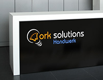 Work solutions logo design