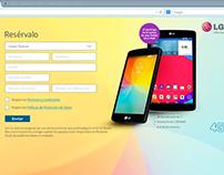 Diseño Formulario Web Preventa LG F60 -2014