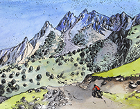 Coloring pages, Kyrgyzstan