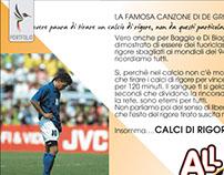 Grafica per Brochure Calcio Presentazione Sportiva