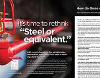 "Wheatland Tube ""Steel or equivalent"" Ad"