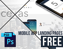 "FREE CLEAN MOBILE APP LANDING PAGE ""ceXas"""