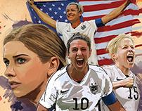 Soccer athlete poster series