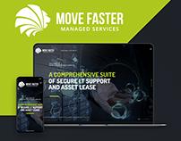 Move Faster LTD logo and website design