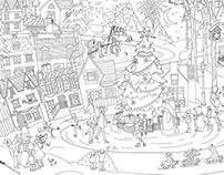 Новогодняя раскраска/ Coloring book
