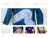 Site design for boutique clothing line