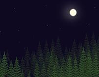 Moon in Dark Forest