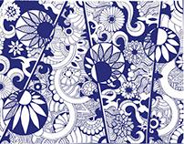 Yin & Yang Zen Flowers Pattern