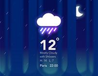 D A R K    F O R E S T Weather UI