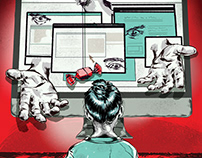 Sunday Times Illustration: Internet Predators