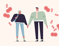 Illustrations for the Lithuanian Public Health Center