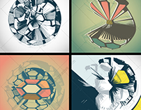Abstract futuristic vector graphics