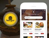 Burger - Mobile app concept design