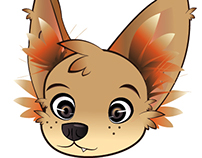 Illustration my dog in cartoon!