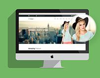 UniqueBiz - Onepage Corporate web template (Freebie)