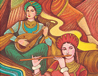 Gipsy culture concept illustration project