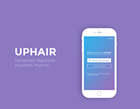 Uphair - iOS app of hairdressers on demand