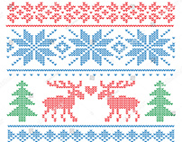 Vector knit pattern
